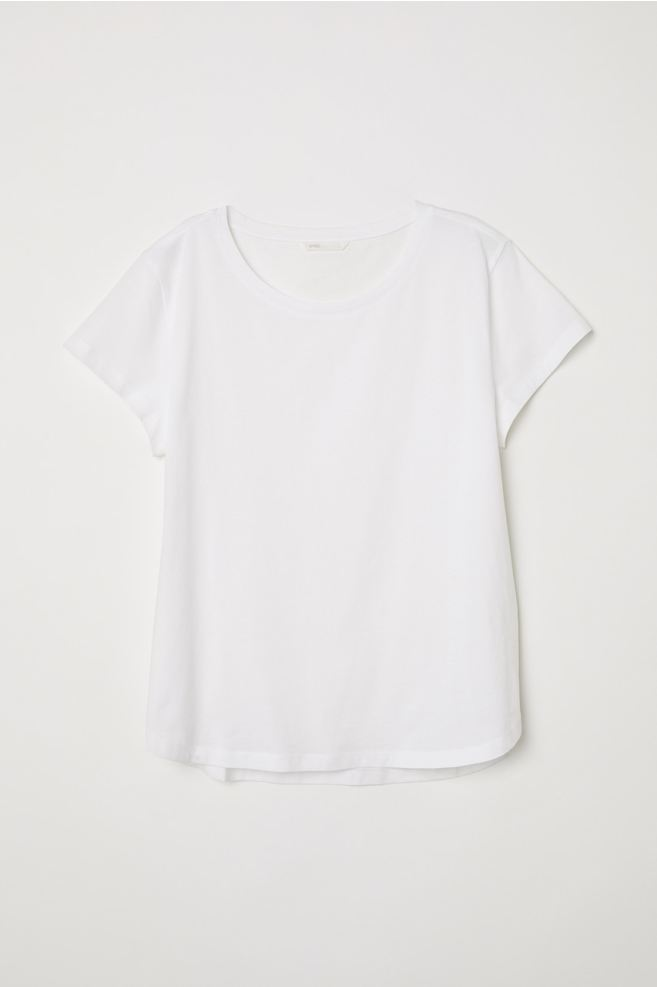 hm biały tshirt