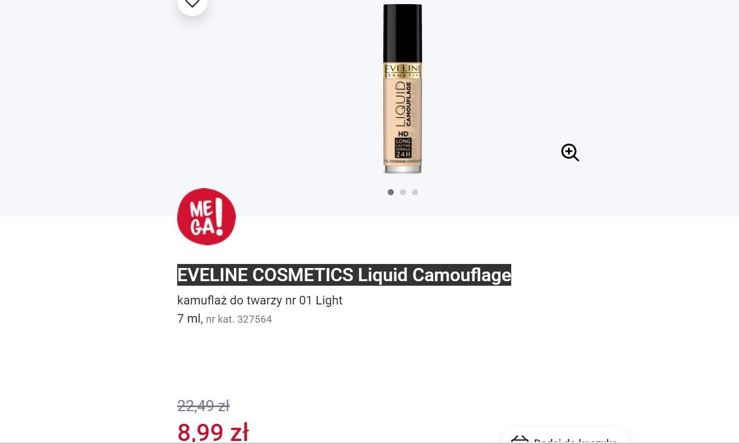 Korektor Eveline Cosmetics na stronie Rossmanna