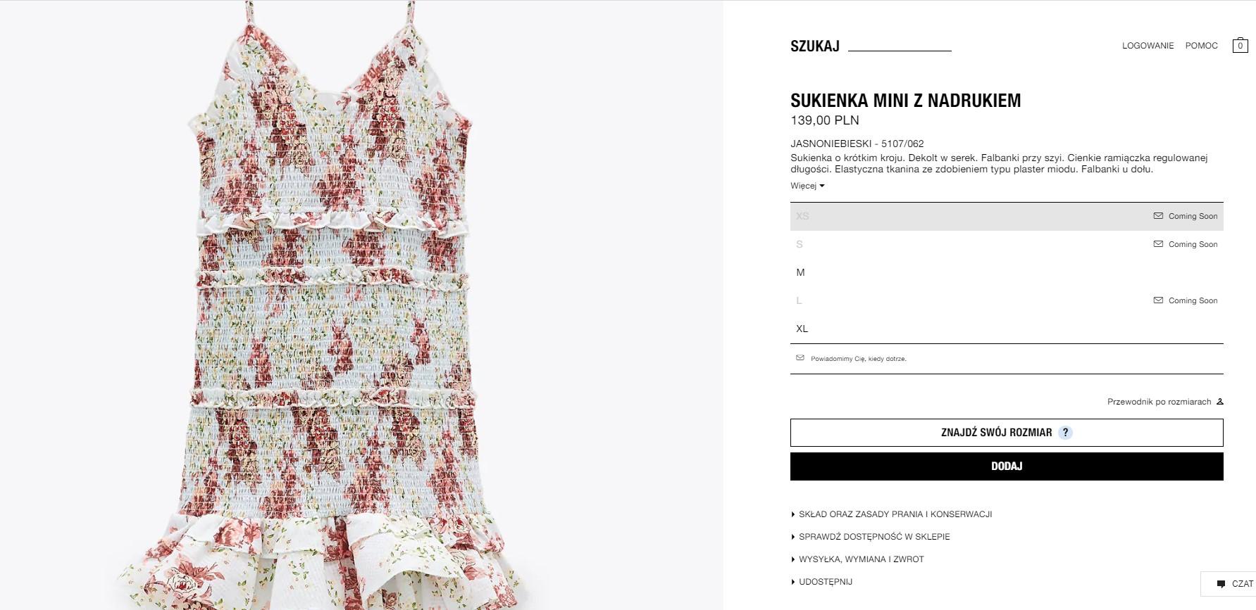 Kwiecista sukienka z Zary