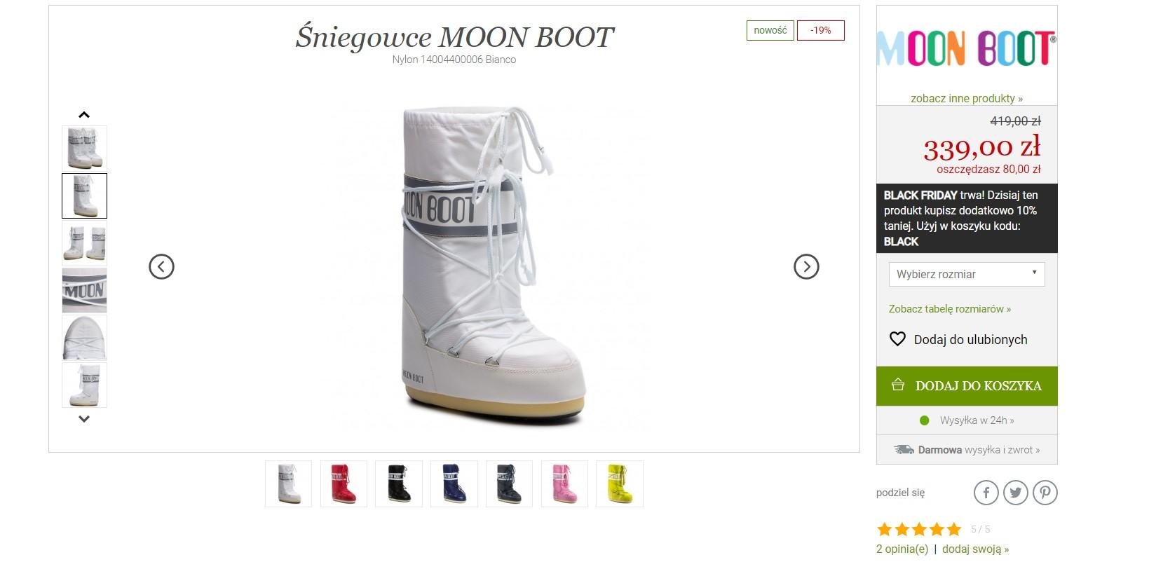 Moon Boots na Eobuwie.pl