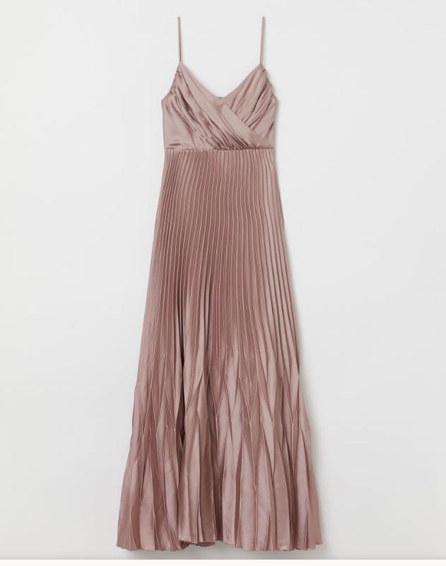 Screenshot_2020-01-14 Długa sukienka plisowana - Ciemny brązowoszary - ONA H M PL