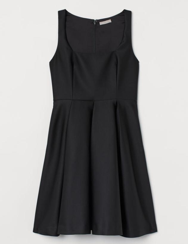 Screenshot_2020-01-14 Sukienka z rozszerzanym dołem - Czarny - ONA H M PL
