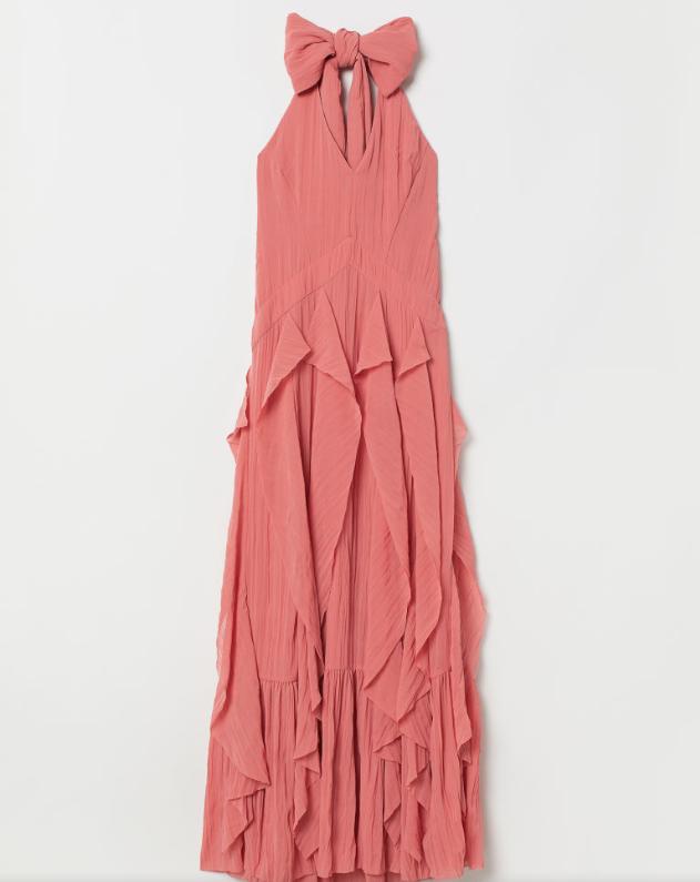 Screenshot_2020-01-14 Szyfonowa sukienka - Koralowy - H M PL