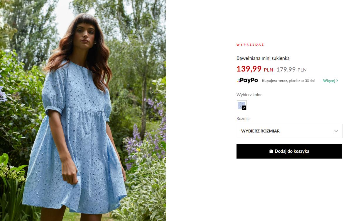 Screenshot_2020-07-06 Bawełniana mini sukienka , MOHITO, ZZ354-05X
