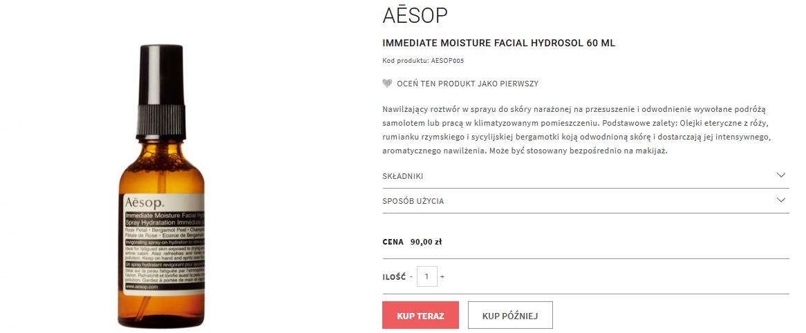 Screenshot_2020-07-27 Galilu neoperfumeria zapachy immediate moisture facial hydrosol 60 ml - pielęgnacja twarzy - Aēsop - [...]