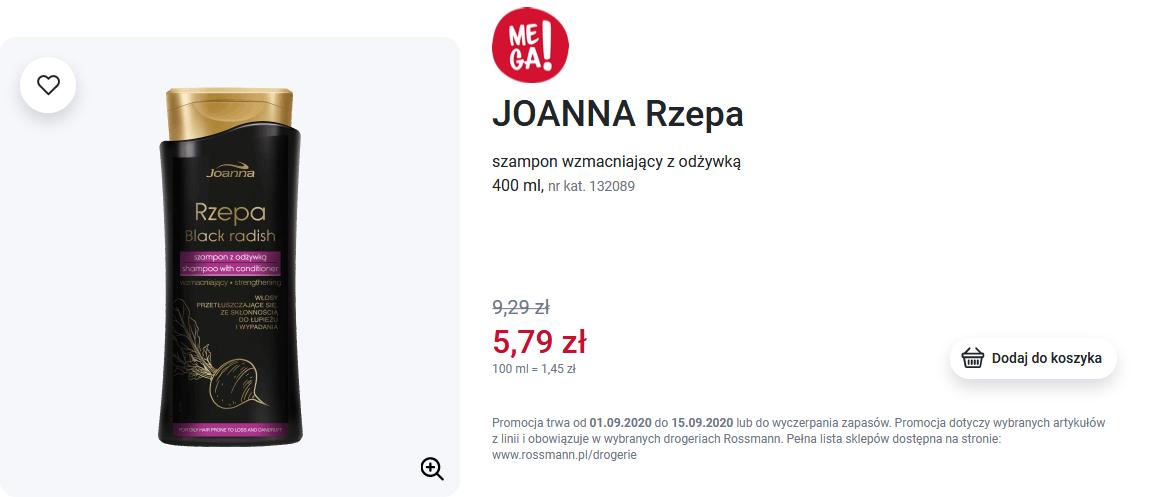 Screenshot_2020-09-04 JOANNA, Rzepa, szampon wzmacniający z odżywką, 400 ml Drogeria Rossmann pl