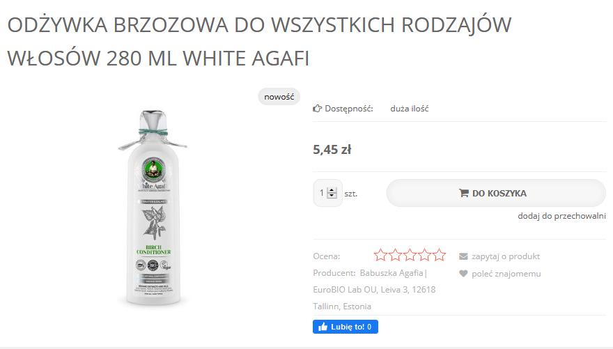 Screenshot_2020-09-17 Odżywka brzozowa do wszystkich rodzajów włosów 280 ml White Agafi