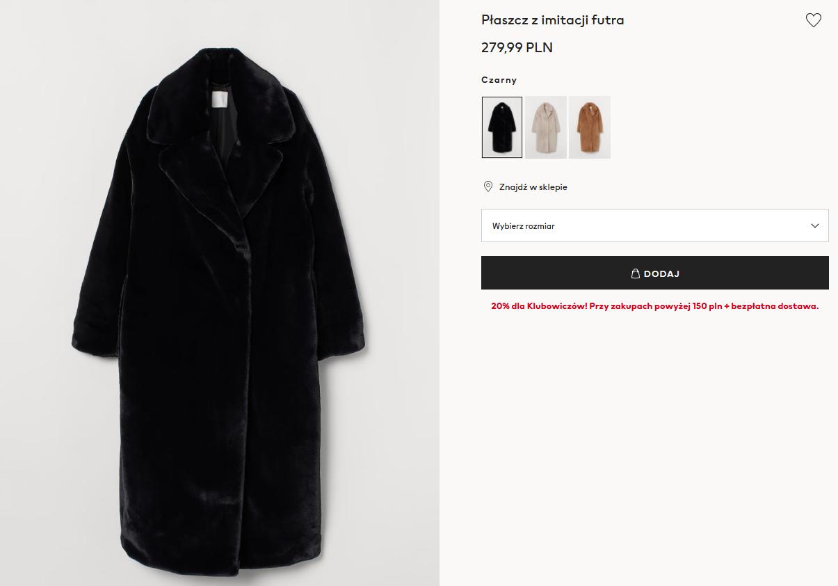 Screenshot_2020-10-30 Płaszcz z imitacji futra - Czarny - ONA H M PL