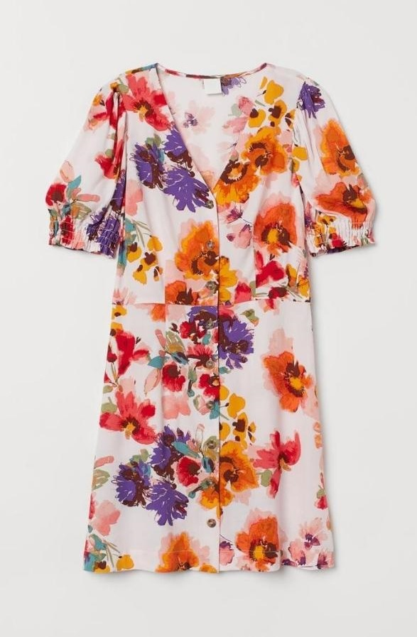 sukienka w kwiaty hm