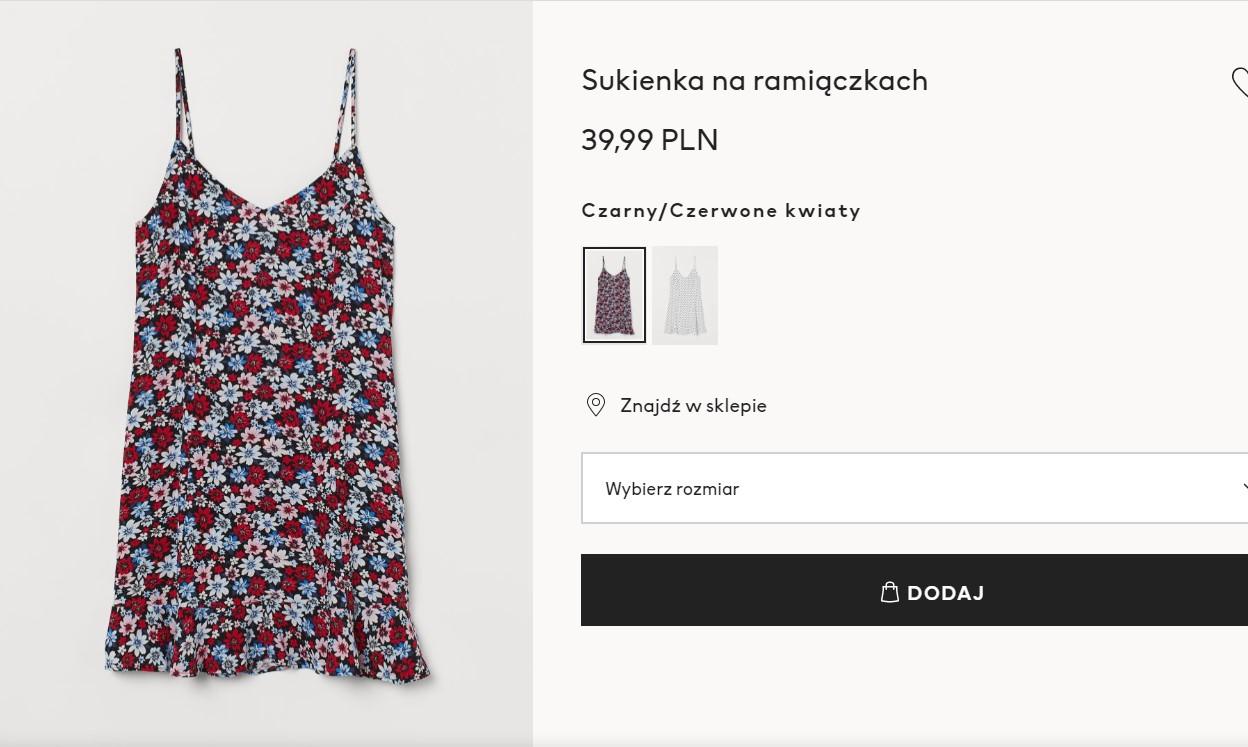 Sukienka w kwiaty w stylu Ani Lewandowskiej z H&M