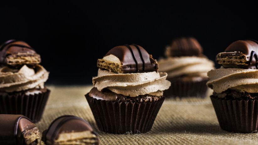 Ciastka muffiny Kinder Bueno