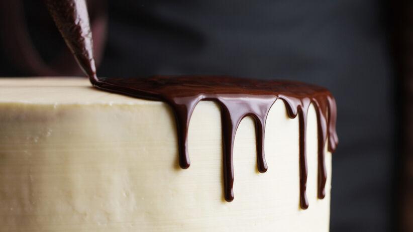 Ciasto Kinder Country oblane czekoladą