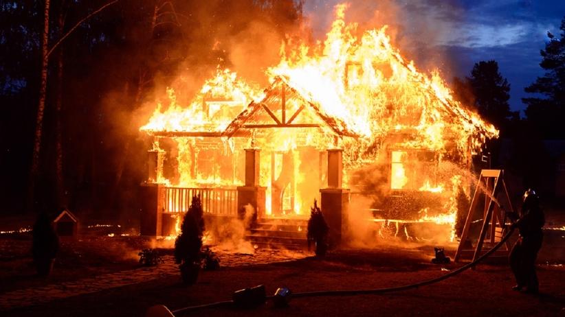 Sennik: pożar