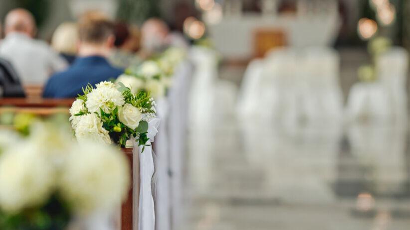Kościół przygotowany na ślub