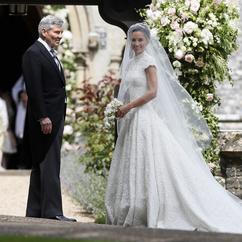 Pippa Middleton z ojcem przed ślubem