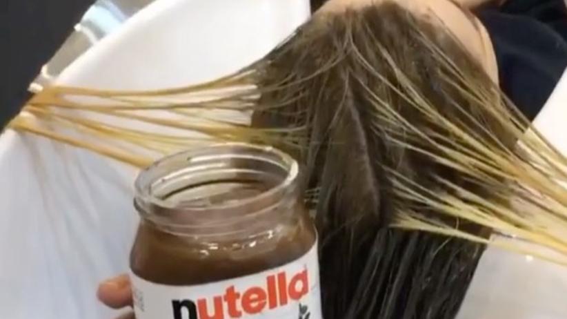 Nutella jako farba do włosów