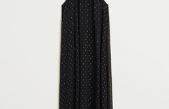 Sukienka z metaliczną nitką i dekoltem halter, aktualna cena 244,90 zł (-30%)