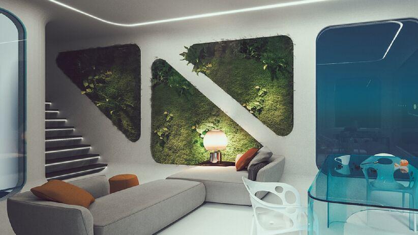 wnętrze w stylu futurystycznym