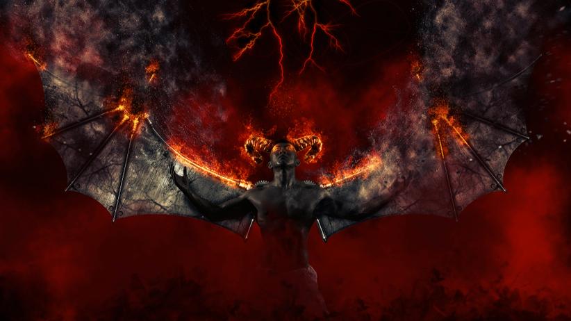 Czarny demon w piekle