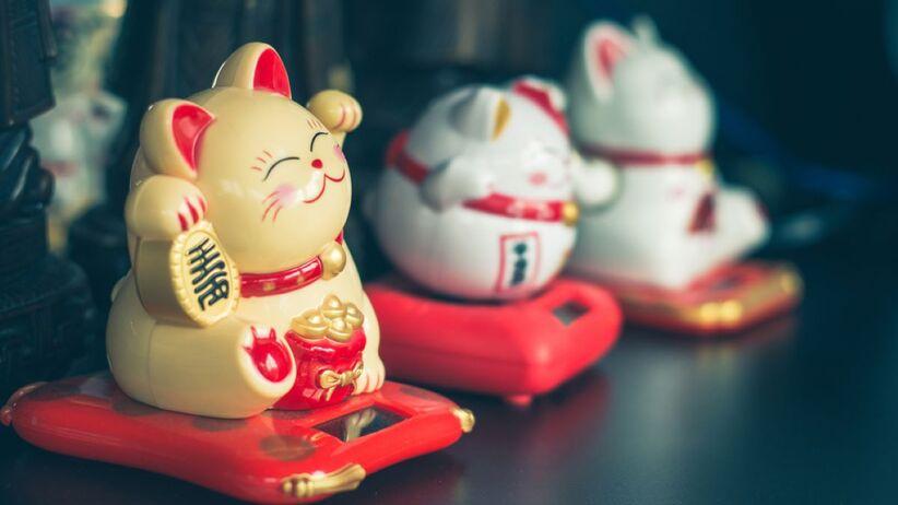 Maneki-neko to jeden z symbolów szczęścia