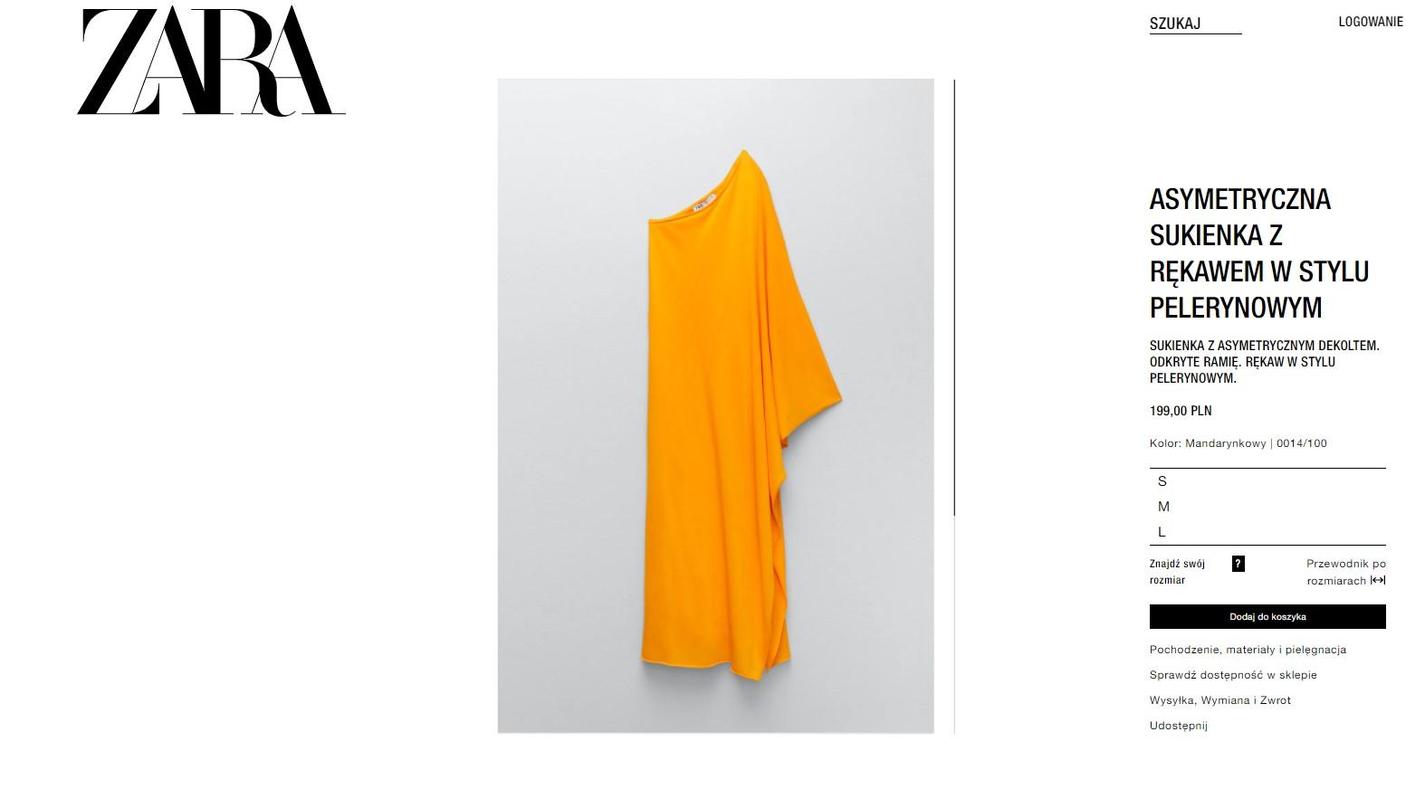 Długa sukienka na wesele z Zary