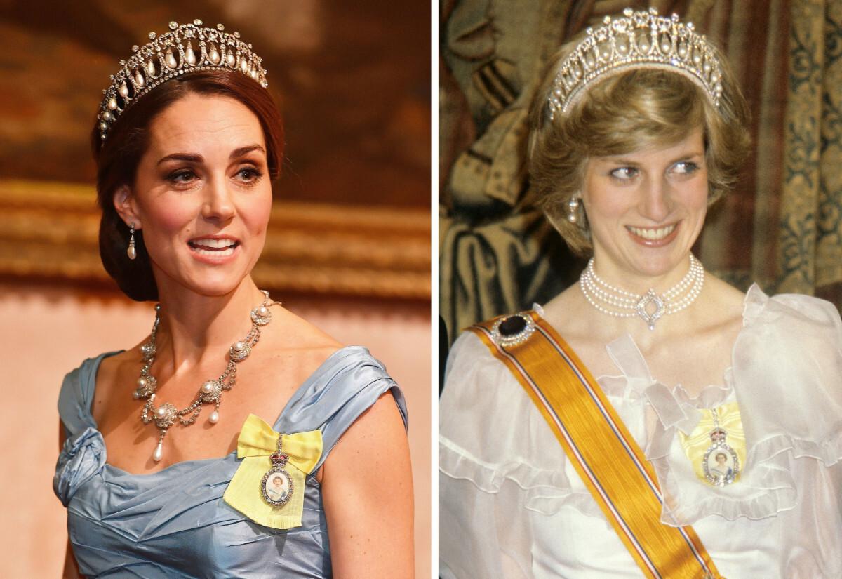 Księżna Kate i księżna Diana - porównanie stylizacji
