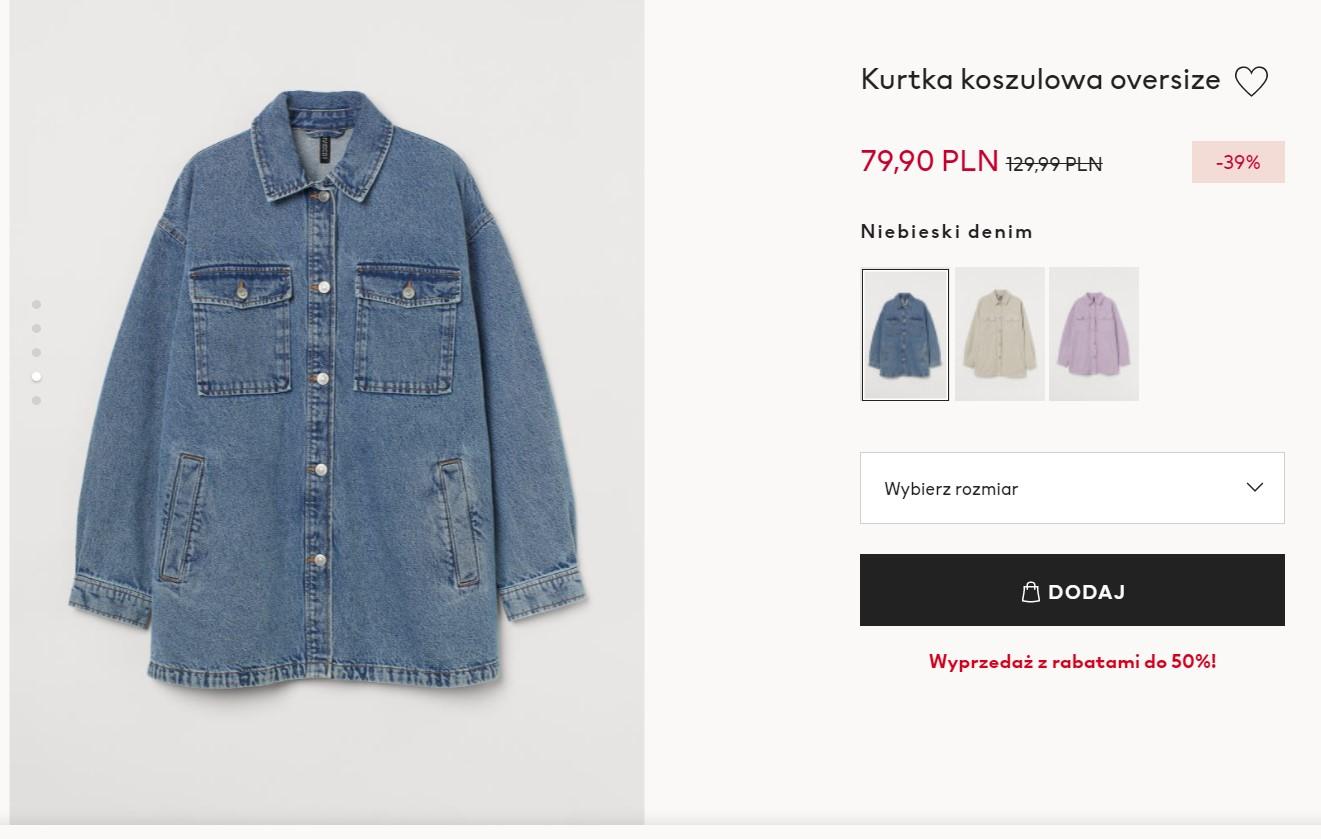 Kurtka koszulowa w H&M