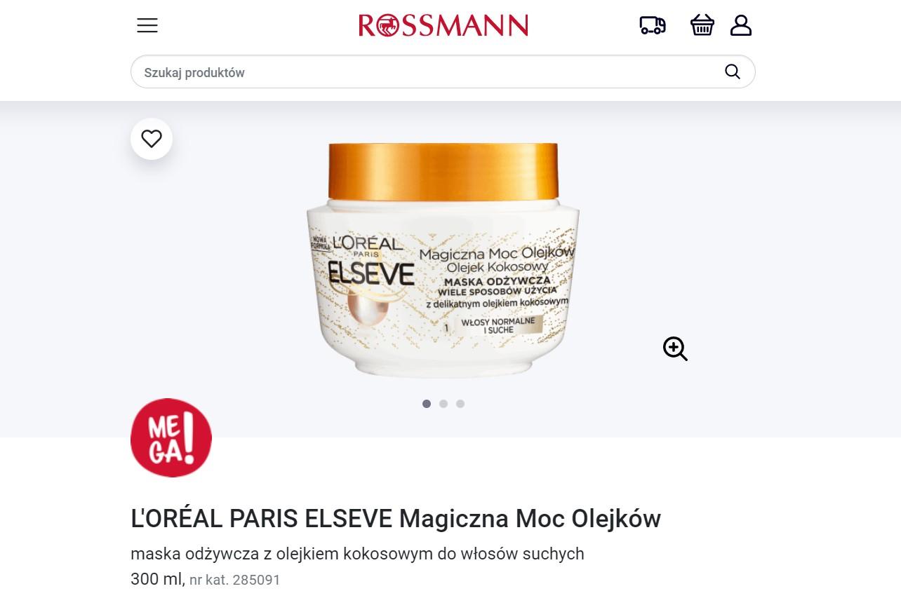 Maska L'oreal Paris z olejem kokosowym