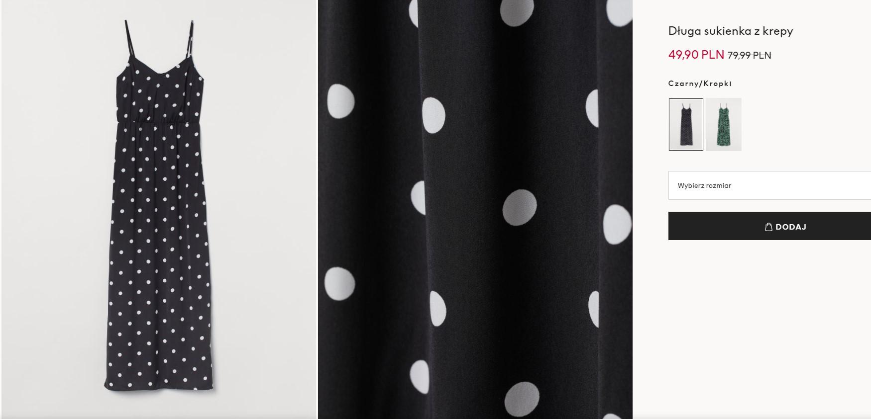 Maxi sukienka z H&M
