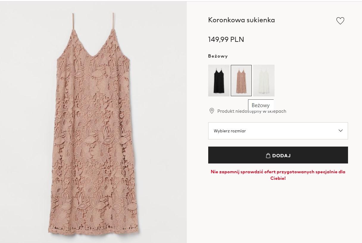 Midi sukienka na wesele z H&M