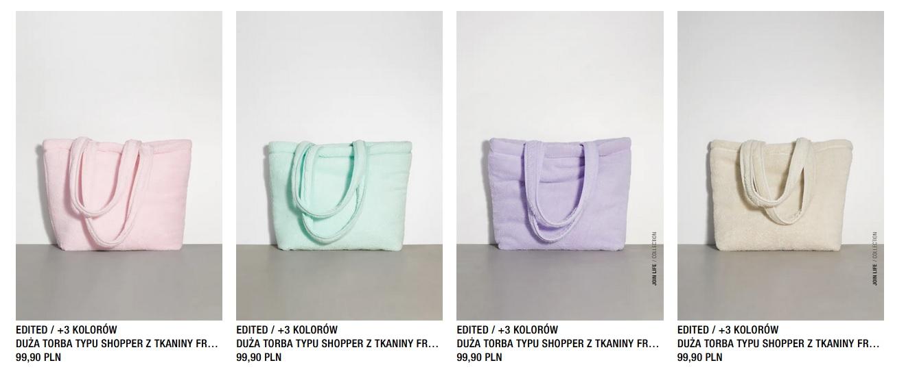 pastelowe torebki z zary