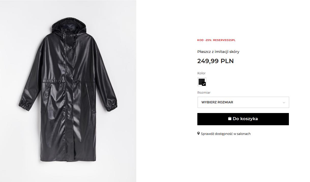 Screenshot_2020-11-12 Kupuj online Płaszcz z imitacji skóry, RESERVED, YU255-99X