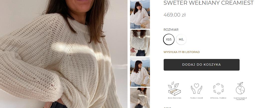 Screenshot_2020-11-13 SWETER WEŁNIANY CREAMIEST – Bohemi Soul Sustainable fashion made in Poland