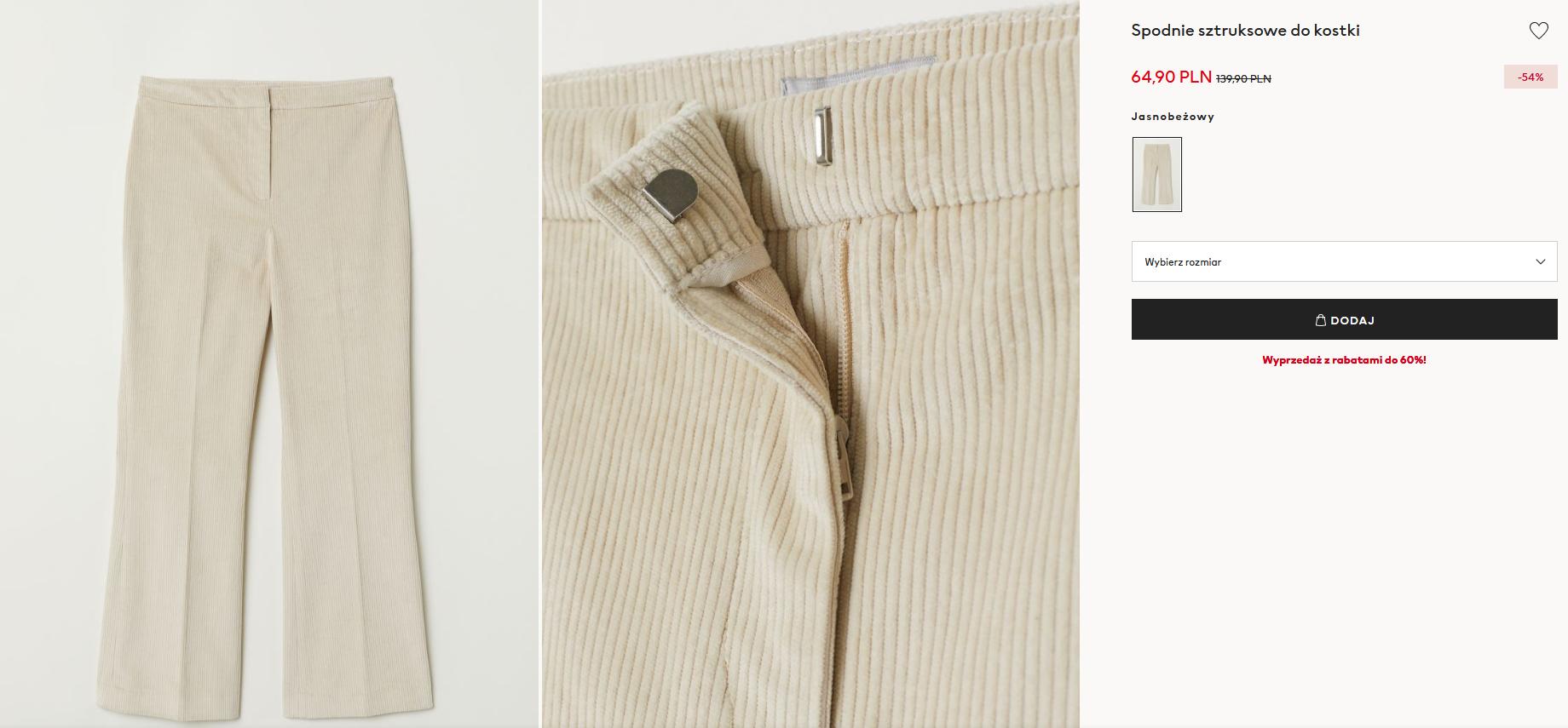 Screenshot_2021-01-05 Spodnie sztruksowe do kostki - Jasnobeżowy - ONA H M PL