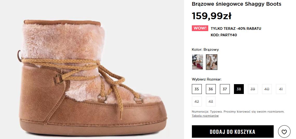 Screenshot_2021-01-12 Brązowe śniegowce Shaggy Boots w sklepie DeeZee pl