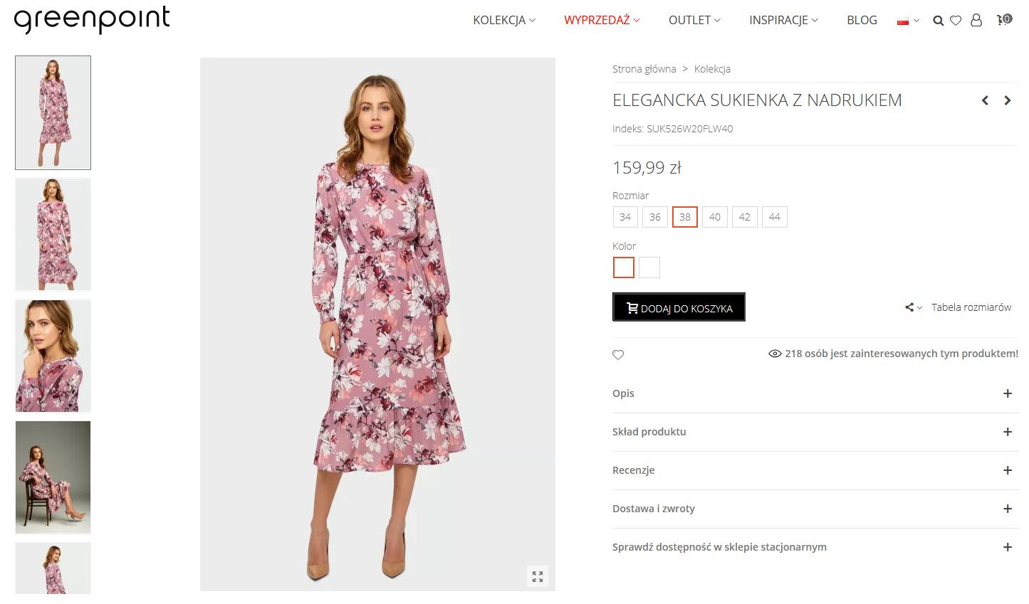 Screenshot_2021-01-29 Elegancka sukienka z nadrukiem Rozmiar 38 Kolor W20FLW40