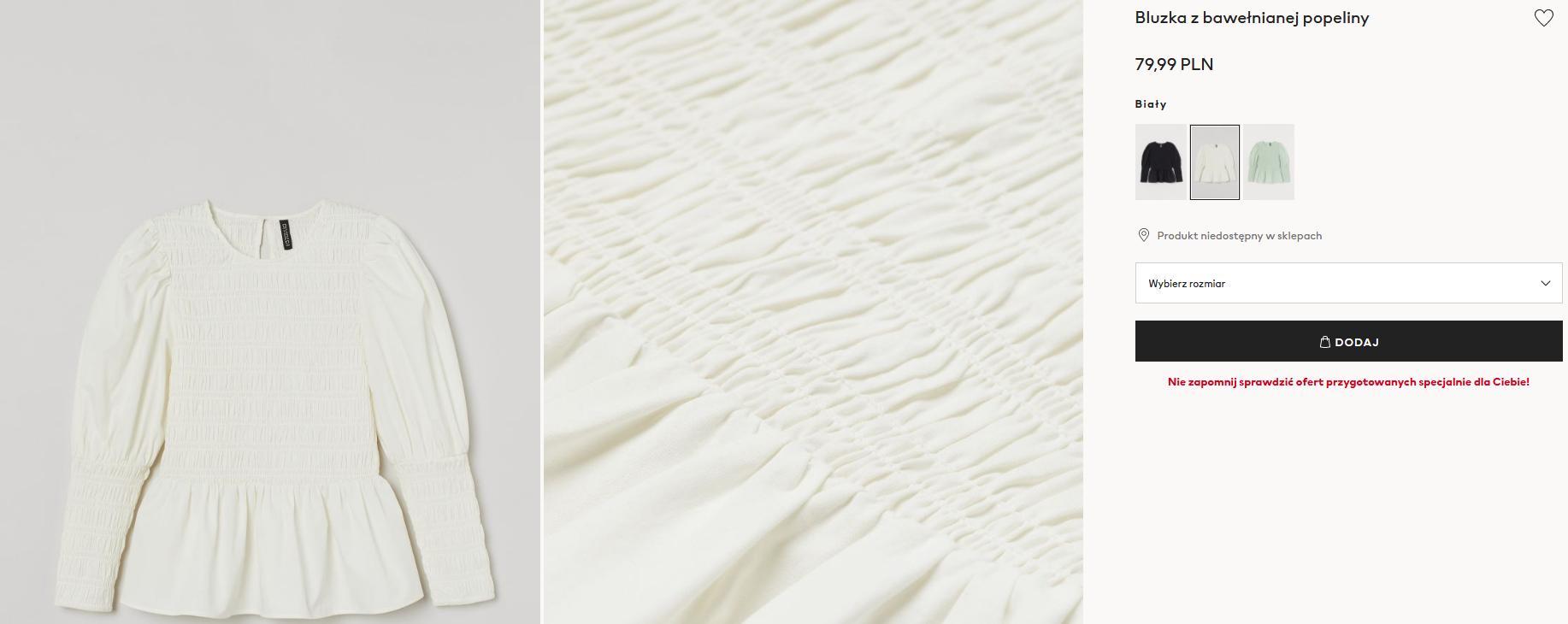 Screenshot_2021-02-17 Bluzka z bawełnianej popeliny - Biały - ONA H M PL