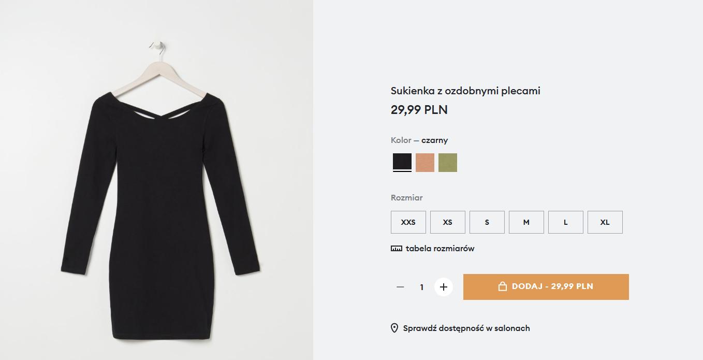 Screenshot_2021-02-17 Sukienka z ozdobnymi plecami, SINSAY, YX192-99X