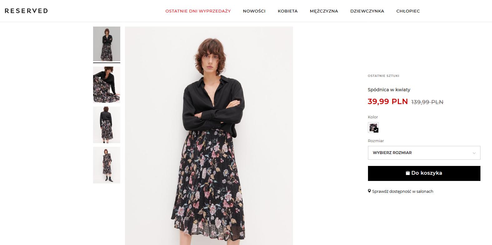 Screenshot_2021-02-25 Kupuj online Spódnica w kwiaty, RESERVED, YU572-99X