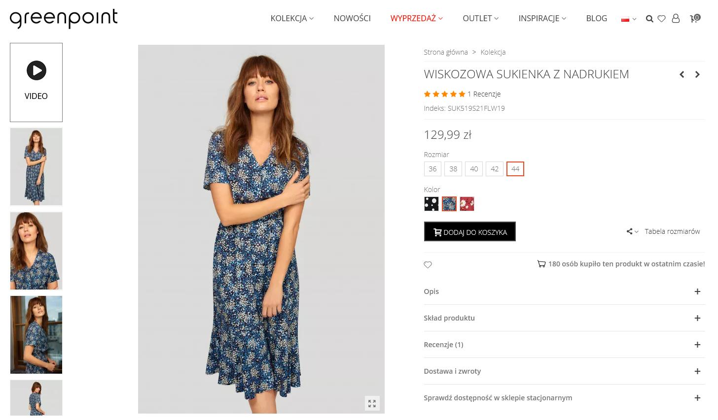 Screenshot_2021-03-02 Wiskozowa sukienka z nadrukiem Rozmiar 44 Kolor S21FLW19