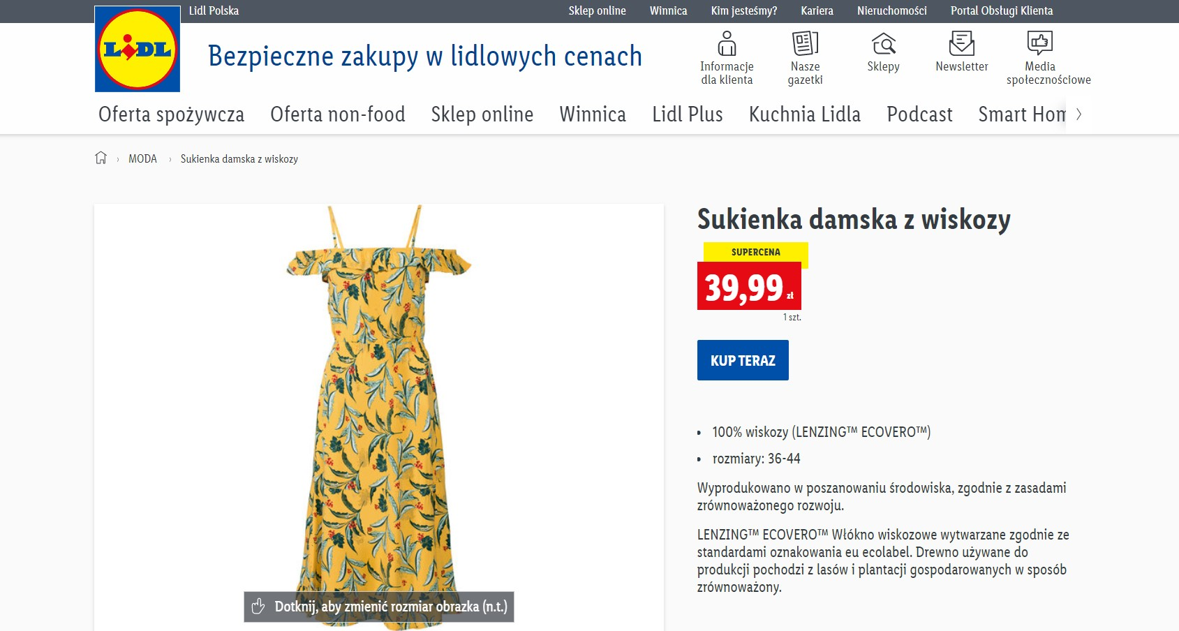 Sukienka-hiszpanka w Lidlu