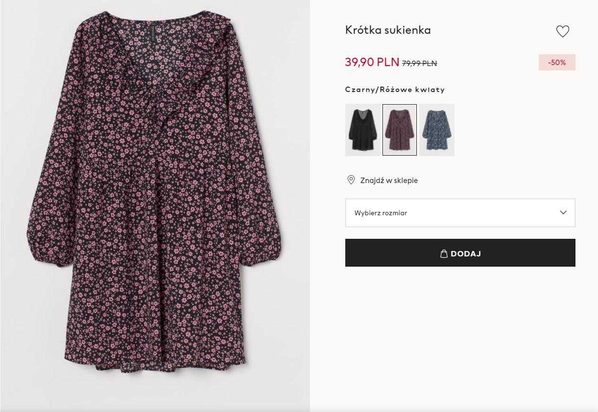 Sukienka z kwiatami z H&M