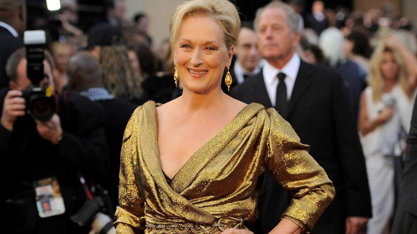 Meryl Streep w złotej sukni na gali rozdania Oscars 2012