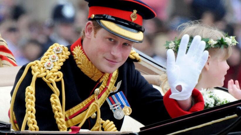 Książę Harry na ślubie księżnej Kate i księcia Williama