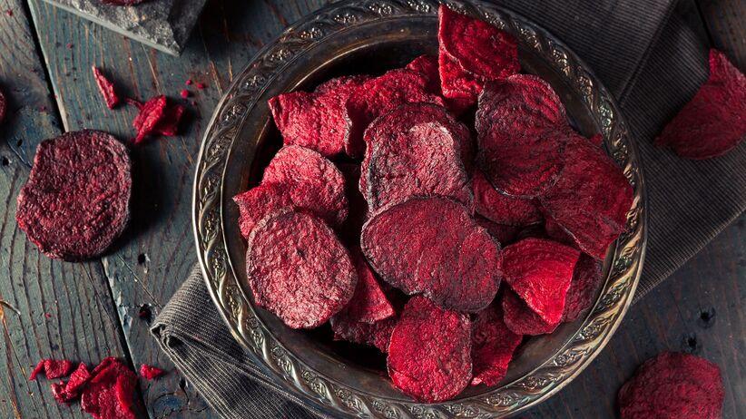 Chipsy z buraków czerwonych