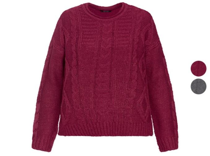 Bordowy sweter z Lidla