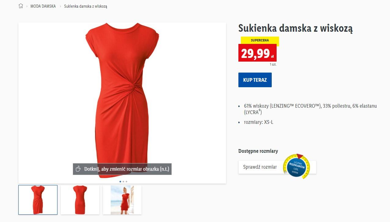 Czerwona sukienka z Lidla