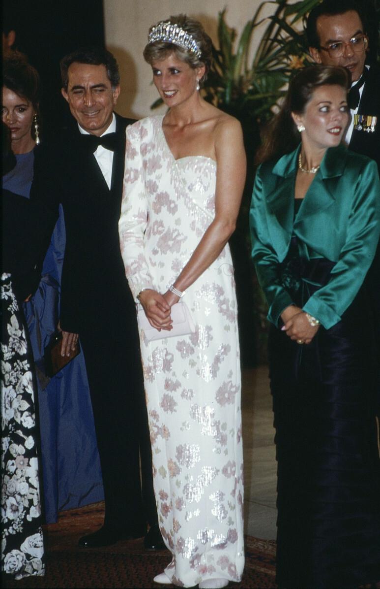 Księżna Diana w bransoletce z pereł i diamentów