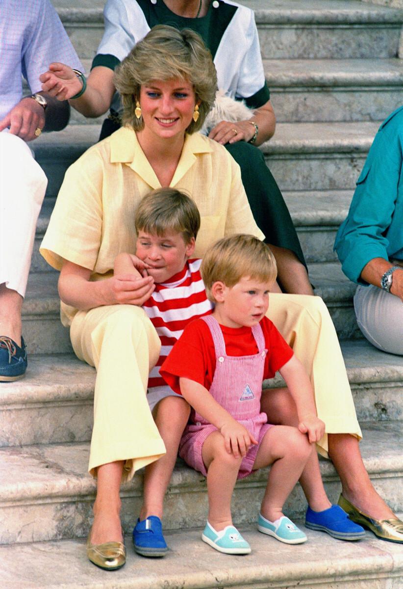 Księżna Diana z synami