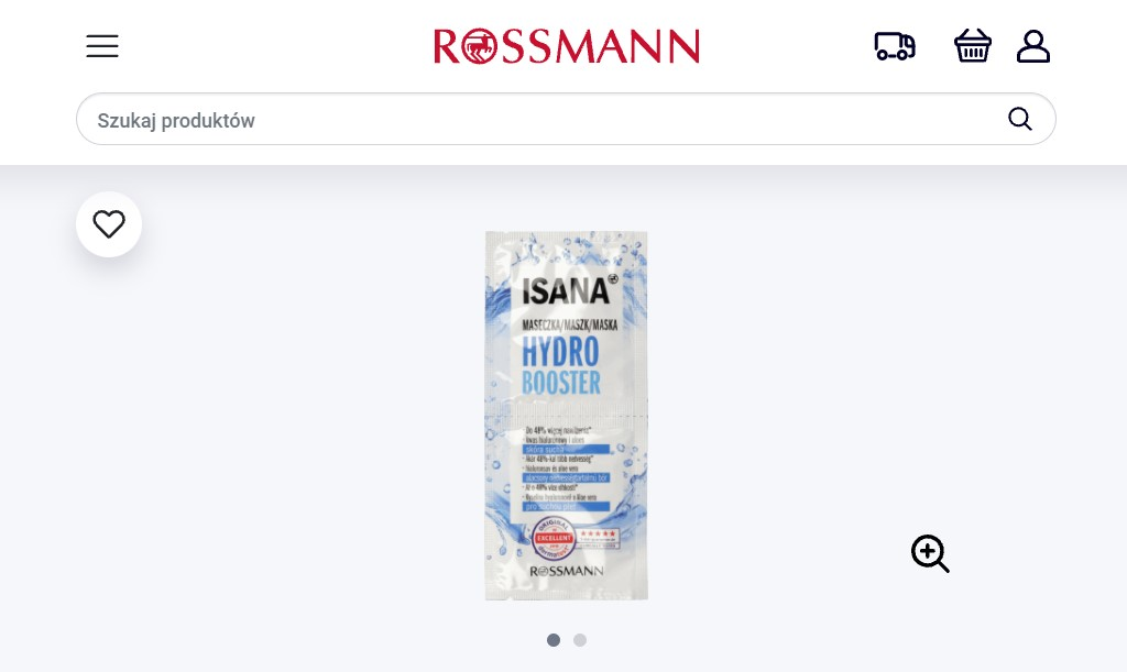Maseczka Isana Hydro Boost w Rossmannie
